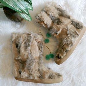 Kate Spade fur boots 🌟rare🌟